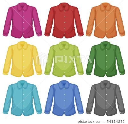 Set of colour collar shirt 54114852
