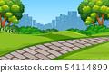 A simple park scene 54114899