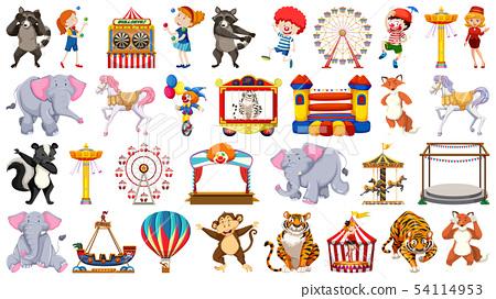 Set of circus character 54114953