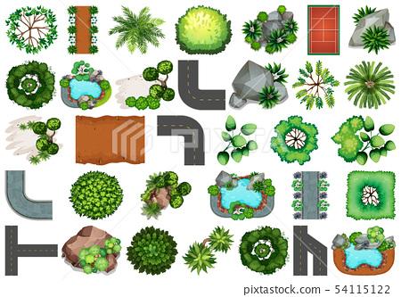 Set of  garden element 54115122