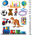 Set of different toys 54115125