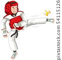 A taekwondo athlete character 54115126