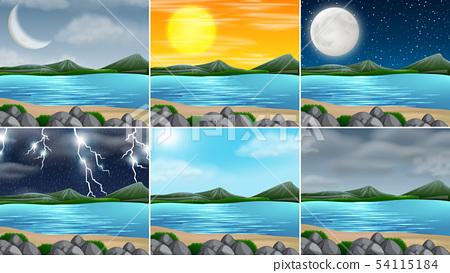 Set of nature landscape 54115184