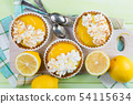 Lemon meringue mini pies 54115634