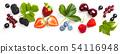 Fresh berries on white background 54116948