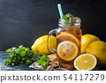 Iced tea in glass jars 54117279