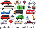 Set of transportation vechiles 54117630