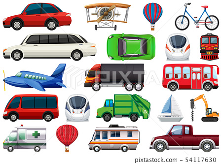 Set of transportation vechiles 54117630