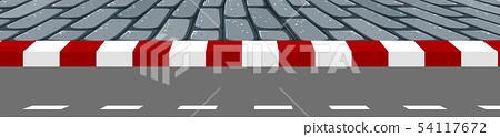 A road footpath scene 54117672