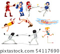 Set of sport athletes 54117690