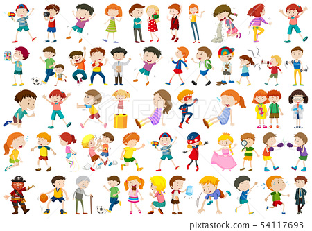 Set of people character 54117693