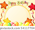 Happy birthday card template 54117704