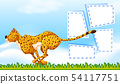 Cheetah frame template background 54117751