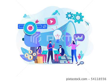 Digital marketing strategy team. Content manager.  54118556
