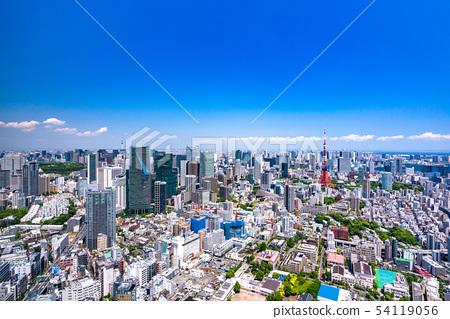 """""""도쿄도""""도쿄 도시 이미지 초여름 54119056"""