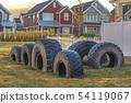 Recycled tires in neighborhood in Utah Valley 54119067