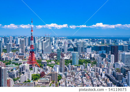 《东京》初夏的东京城市形象 54119075