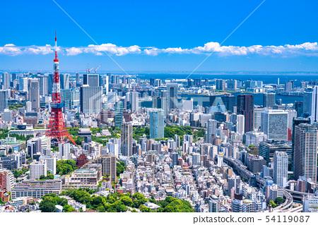"""""""도쿄도""""도쿄 도시 이미지 초여름 54119087"""