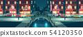 Rainy weather on night city streets cartoon vector 54120350
