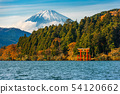 autumn scene of mountain Fuji, Lake Ashinoko 54120662