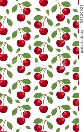 Seamless pattern cherry fruits, Fresh organic food 54120925
