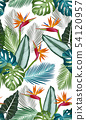 Seamless pattern with bird of paradise 54120957