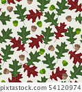 Seamless vector pattern with autumn leaves in 54120974