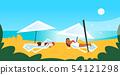 couple bikini woman sunbathing girls in swimsuit lying on sun lounger under umbrella summer vacation 54121298