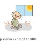 여름 열사병 실내에서 자제하는 할아버지 54121806