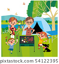 Family camping 54122395