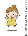 可愛的孩子做跳躍 54122454
