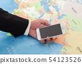 지도 및 스마트 폰 54123526