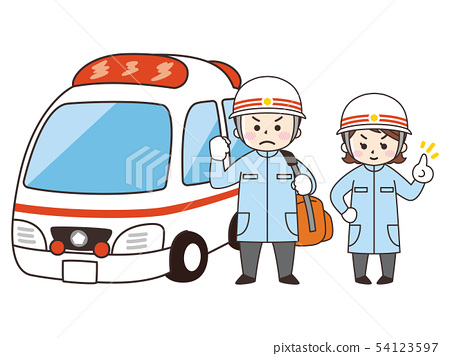 護理人員和救護車 54123597