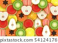 colorful mixed fruit background 54124176