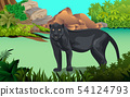 Black panther In the jungle 54124793