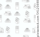 Stack of books white flat design seamless pattern 54125690
