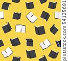 black books seamless pattern 54125691