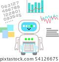 데이터를 분석하는 로봇 54126675
