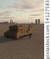 Future Super-Heavy Tank Guarding a Desert City 54127583