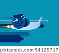 Businesswoman snail rides, Concept business vector 54129717
