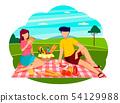 Summer picnic concept. Romantic couple. 54129988