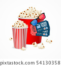 Realistic 3d Detailed Cinema Concept Card. Vector 54130358