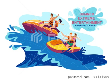 Summer Extreme Entertainment in Tropical Country. 54131509