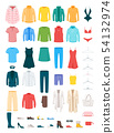 Clothes and accessories vector illustrations set 54132974