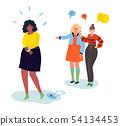 Bullying - modern colorful flat design style illustration 54134453