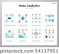 Data analytics icons flat pack 54137951