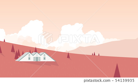Small cottage located on mountain  54139935