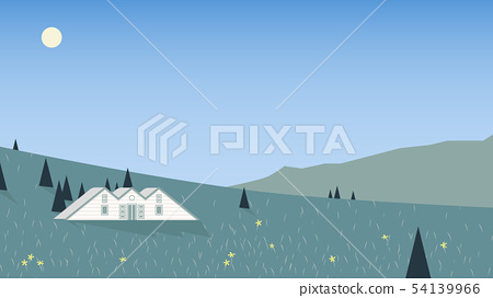 Small cottage located on mountain  54139966