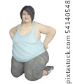 힘든 다이어트 중에 휴식을 취하는 여성 54140548