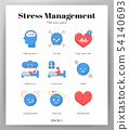 Stress management icons flat pack 54140693